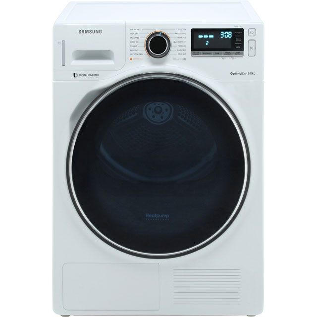 Samsung DV90M8204AW 9Kg Heat Pump Tumble Dryer - White - A+++ Rated - DV90M8204AW_WH - 1
