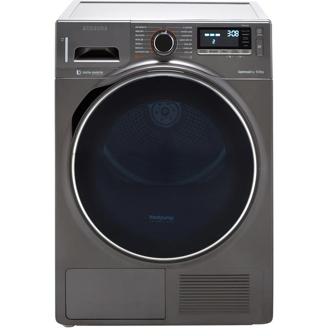 Samsung DV90M8204AX 9Kg Heat Pump Tumble Dryer - Graphite - A+++ Rated - DV90M8204AX_GH - 1