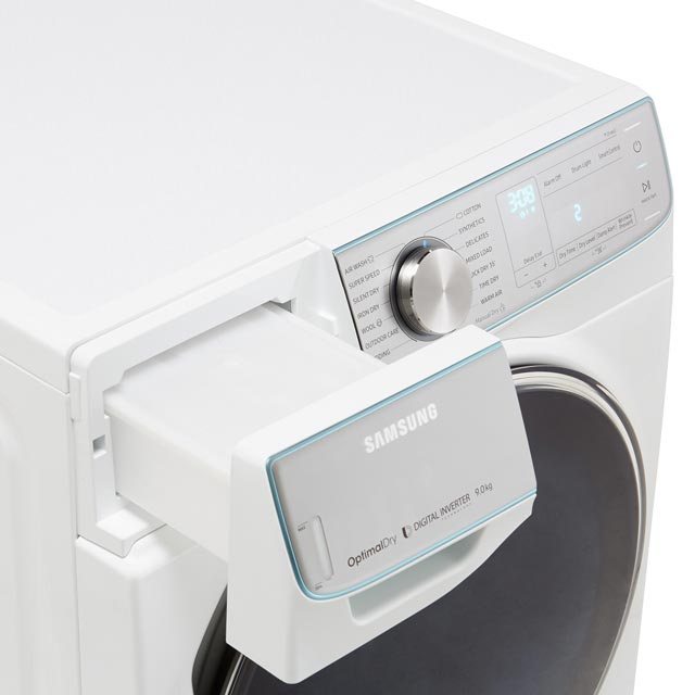 Samsung DV90N8289AW Heat Pump Tumble Dryer - White - DV90N8289AW_WH - 5