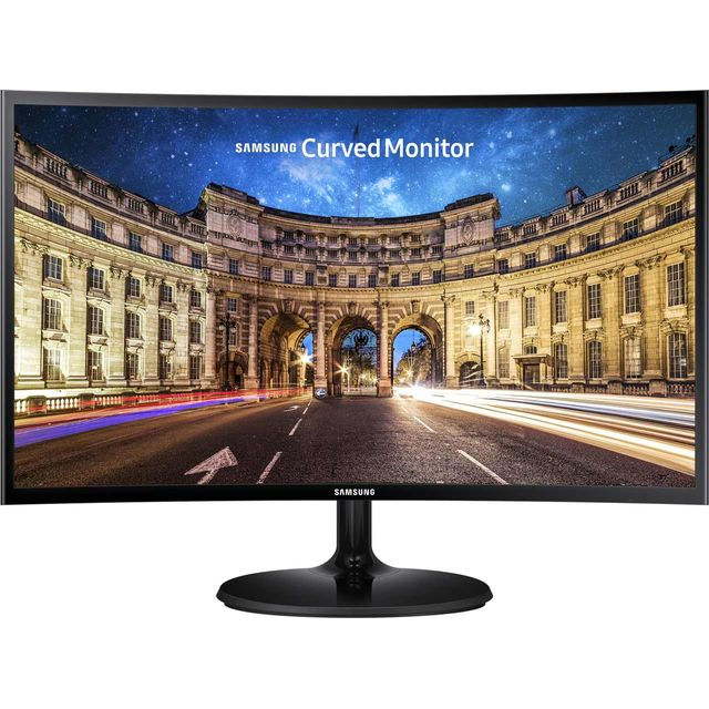 "Samsung C27F390 Full HD 27"" 60Hz Curved Gaming Monitor with AMD FreeSync - Black"