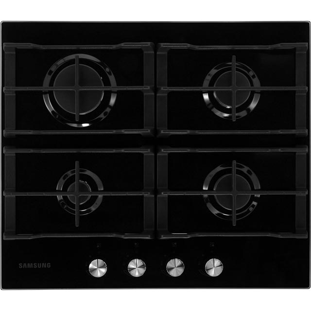 Samsung Prezio NA64H3000AK Built In Gas Hob - Black / Glass - NA64H3000AK_BKG - 1