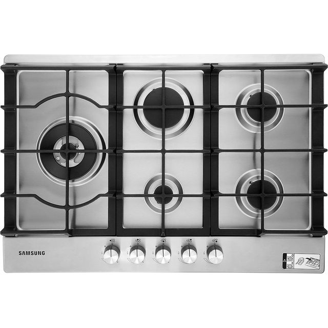 Samsung NA75J3030AS 75cm Gas Hob - Stainless Steel at Boots Kitchen Appliances