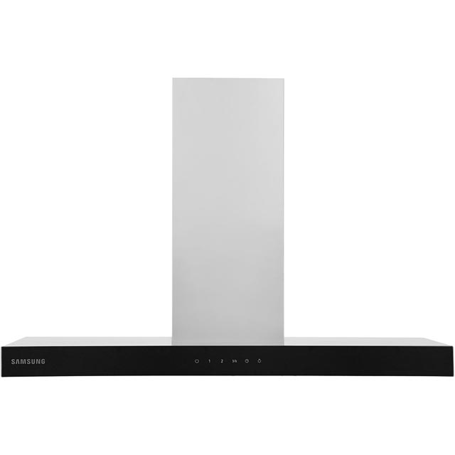Samsung Prezio 90 cm Chimney Cooker Hood - Stainless Steel / Black Glass - B Rated
