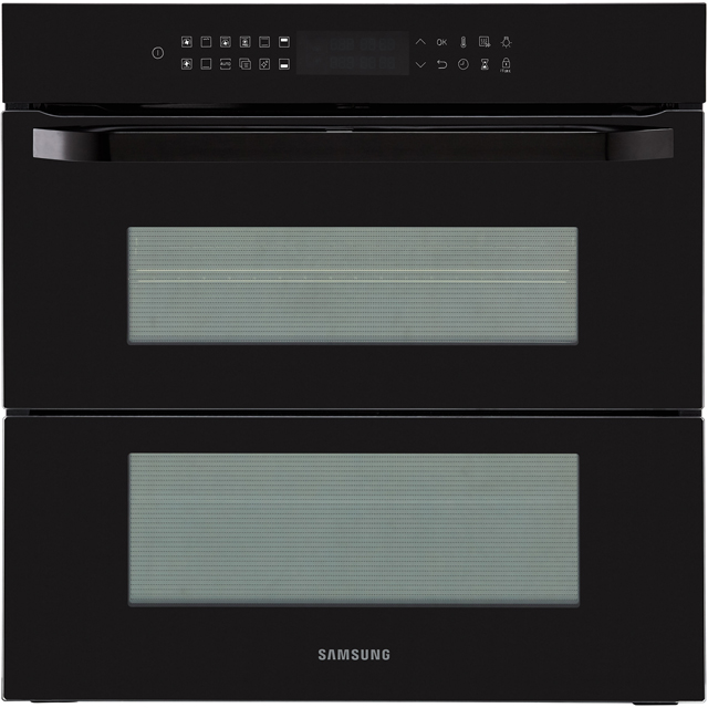 Samsung Prezio Dual Cook Flex NV75R7676RB Built In Electric Single Oven - Black Glass - A+ Rated - NV75R7676RB_BKG - 1