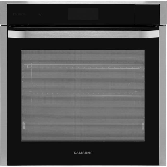 Samsung Chef Collection NV73J9770RS Wifi Connected Built In Electric Single Oven with added Steam Function - Black / Stainless Steel - A+ Rated