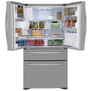Samsung Four Door RF24FSEDBSR American Fridge Freezer - Stainless Steel - RF24FSEDBSR_SS - 3