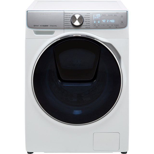 Samsung QuickDrive™ WD10N84GNOA 10Kg / 6Kg Washer Dryer with 1400 rpm - White - A Rated - WD10N84GNOA_WH - 1