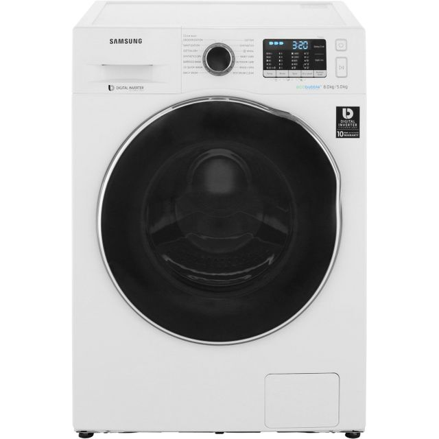 Samsung ecobubble™ WD80J5A10AW 8Kg / 5Kg Washer Dryer with 1400 rpm - White - A Rated - WD80J5A10AW_WH - 1