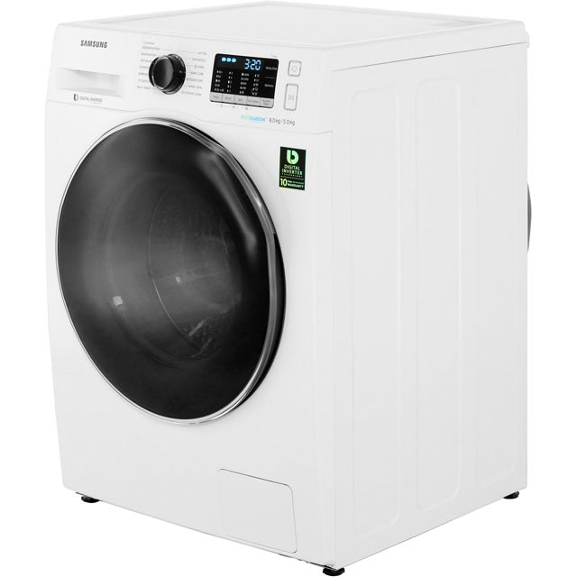 Samsung ecobubble™ WD80J5A10AW 8Kg / 5Kg Washer Dryer - White - WD80J5A10AW_WH - 2