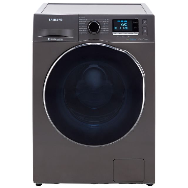 Samsung ecobubble™ WD80J6A10AX 8Kg / 5Kg Washer Dryer with 1400 rpm - Graphite - A Rated - WD80J6A10AX_GH - 1