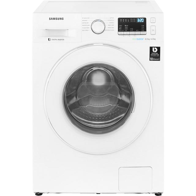 Samsung ecobubble™ WD80M4B53IW 8Kg / 6Kg Washer Dryer with 1400 rpm - White - B Rated