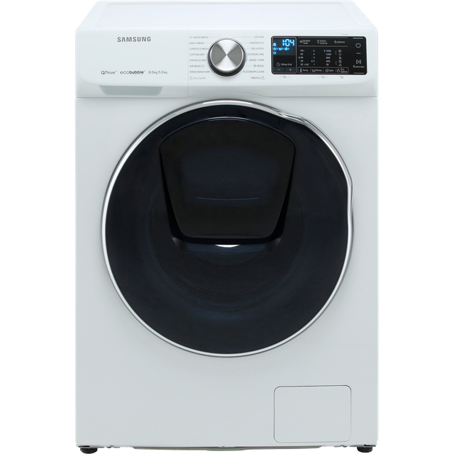 Samsung QuickDrive™ WD80N645OOW Wifi Connected 8Kg / 5Kg Washer Dryer with 1400 rpm - White - WD80N645OOW_WH - 1
