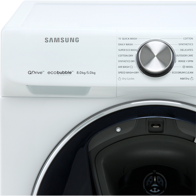 Samsung QuickDrive™ WD80N645OOW 8Kg / 5Kg Washer Dryer - White - WD80N645OOW_WH - 2