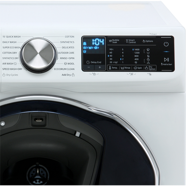 Samsung QuickDrive™ WD80N645OOW 8Kg / 5Kg Washer Dryer - White - WD80N645OOW_WH - 3