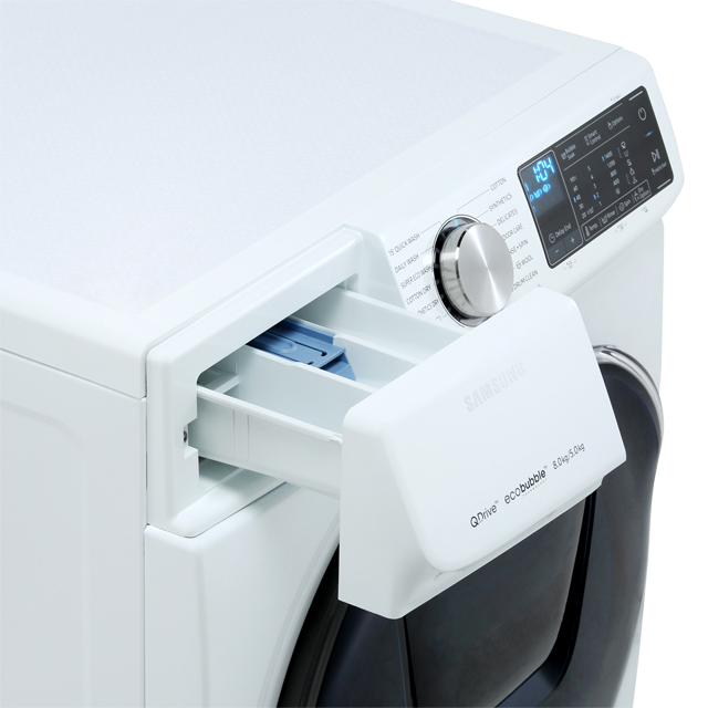 Samsung QuickDrive™ WD80N645OOW 8Kg / 5Kg Washer Dryer - White - WD80N645OOW_WH - 4