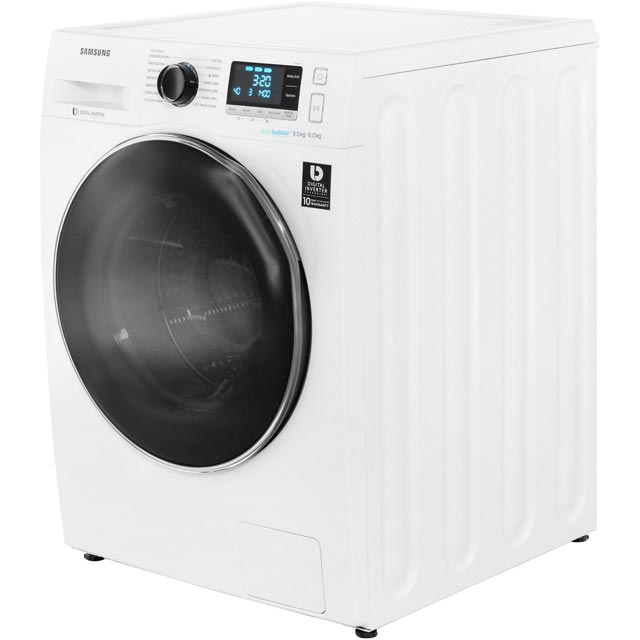 Samsung ecobubble™ WD90J6A10AW 9Kg / 6Kg Washer Dryer - White - WD90J6A10AW_WH - 2