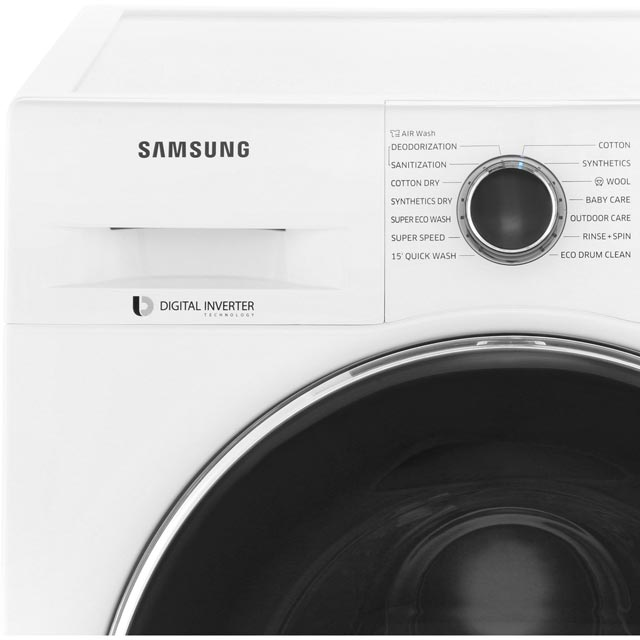 Samsung ecobubble™ WD90J6A10AW 9Kg / 6Kg Washer Dryer - White - WD90J6A10AW_WH - 4