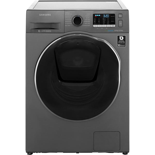 Samsung AddWash ecobubble WD90K5B10OX Free Standing Washer Dryer in Graphite