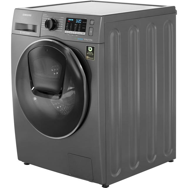 Samsung AddWash™ ecobubble™ WD90K5B10OX 9Kg / 6Kg Washer Dryer - Graphite - WD90K5B10OX_GH - 2