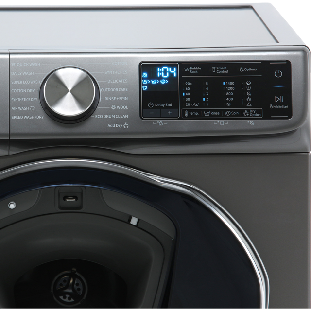 Samsung QuickDrive™ WD90N645OOX Washer Dryer - Graphite - WD90N645OOX_GH - 4
