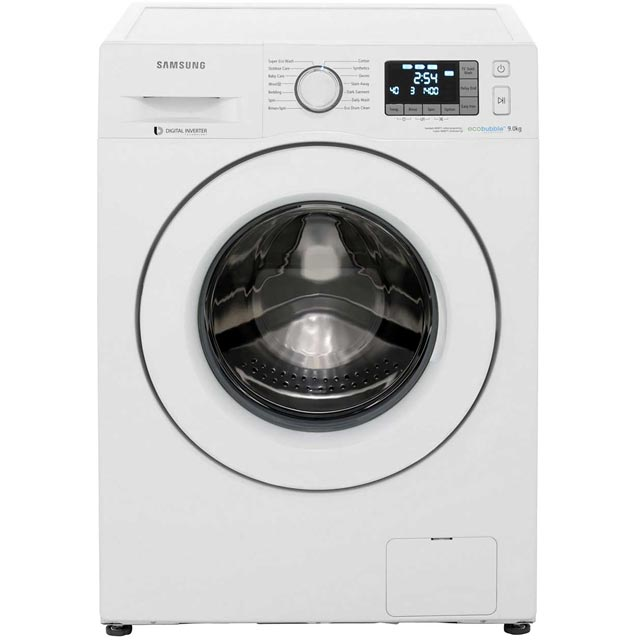 samsung ww5500 ww90k5413uw free standing washing machine in white washing machines. Black Bedroom Furniture Sets. Home Design Ideas