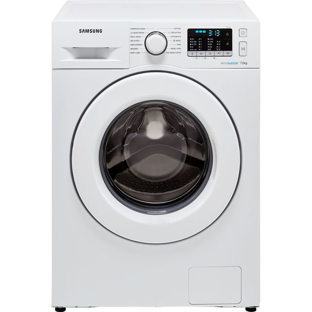Samsung ecobubble™ WW70J5555MW 7Kg Washing Machine with 1400 rpm - White - A+++ Rated - WW70J5555MW_WH - 1