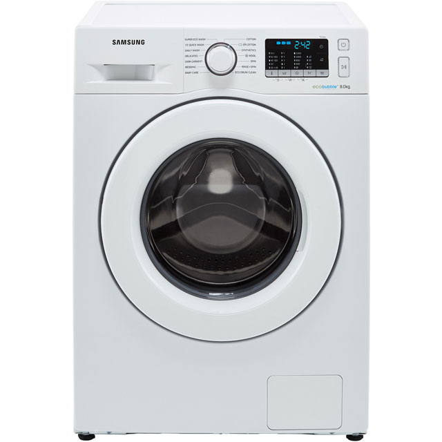 Samsung ecobubble™ WW80J5355MW 8Kg Washing Machine with 1200 rpm - White - A+++ Rated - WW80J5355MW_WH - 1