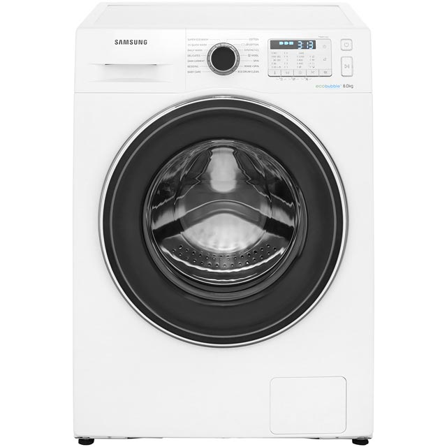 Samsung Ecobubble WW80J5555FA 8Kg Washing Machine with 1400 rpm - White - A+++ Rated