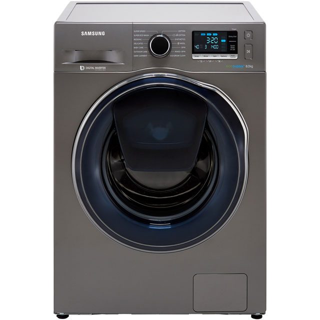 Samsung AddWash™ ecobubble™ WW80K6414QX 8Kg Washing Machine with 1400 rpm - Graphite - A+++ Rated