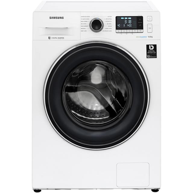 Samsung ecobubble™ WW90J5456FW 9Kg Washing Machine with 1400 rpm - White - A+++ Rated - WW90J5456FW_WH - 1