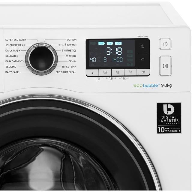 Samsung Ecobubble Ww90j5456fc Washing Machine Graphite