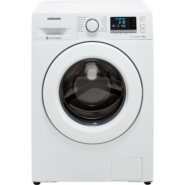 Samsung ecobubble™ WW90J5456MW 9Kg Washing Machine with 1400 rpm - White - A+++ Rated - WW90J5456MW_GH - 1