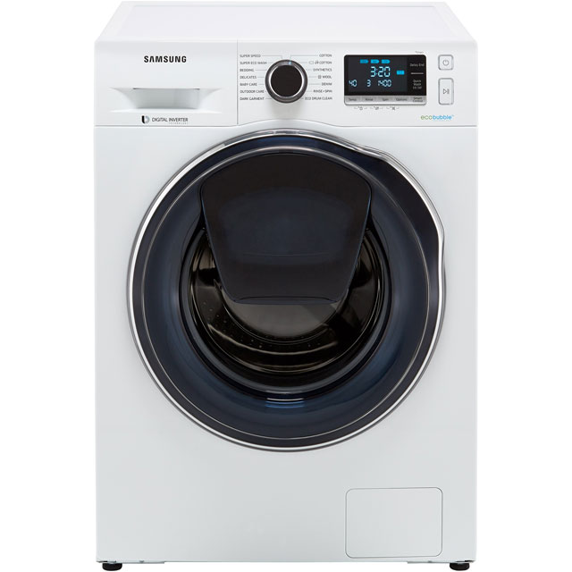 Samsung AddWash™ ecobubble™ WW90K6414QW 9Kg Washing Machine with 1400 rpm - White - A+++ Rated - WW90K6414QW_WH - 1