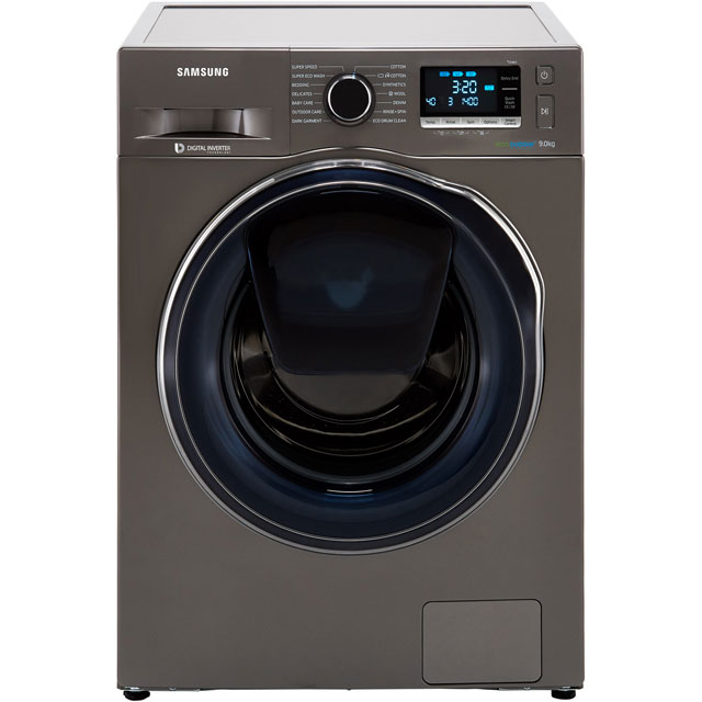 Samsung AddWash™ ecobubble™ WW90K6414QX 9Kg Washing Machine with 1400 rpm - Graphite - A+++ Rate