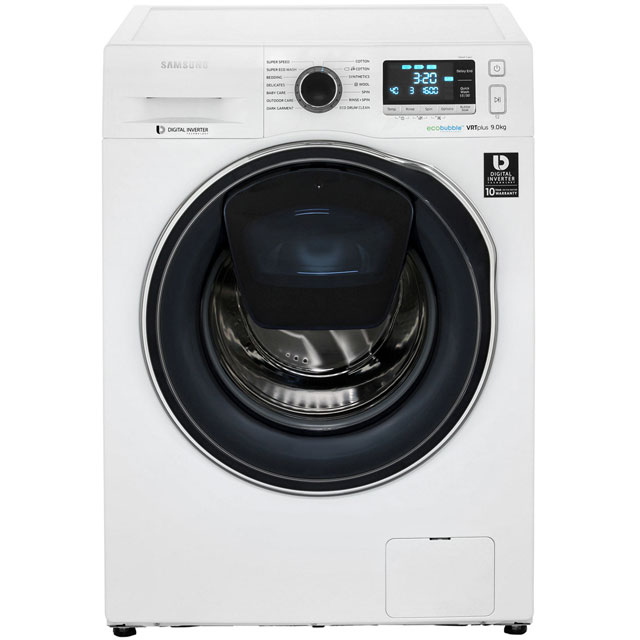 Samsung AddWash™ ecobubble™ WW90K6610QW 9Kg Washing Machine with 1600 rpm - White - A+++ Rated - WW90K6610QW_WH - 1