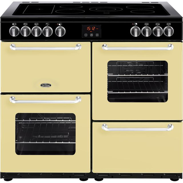 Belling SANDRINGHAM100E 100cm Electric Range Cooker with Ceramic Hob - Cream - A/A Rated