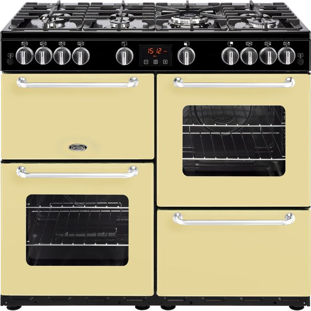 Belling SANDRINGHAM100G 100cm Gas Range Cooker - Cream - A/A Rated - SANDRINGHAM100G_CR - 1