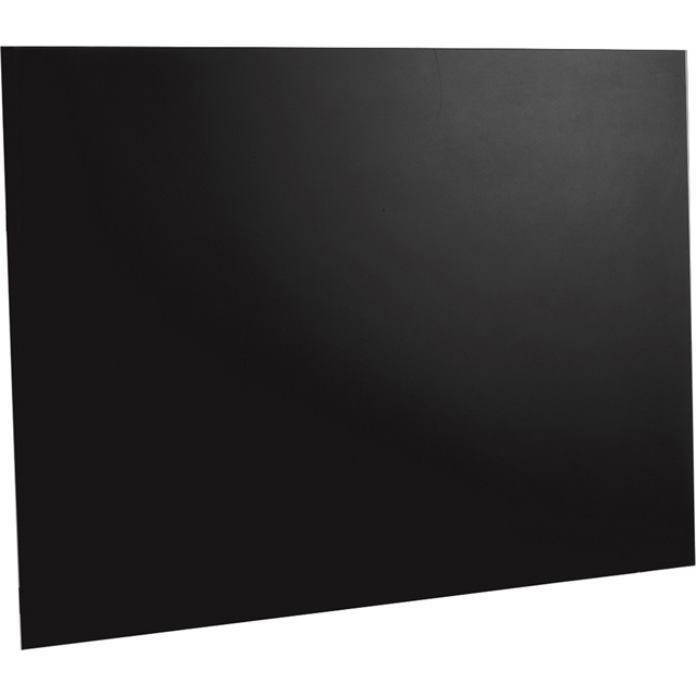 Non-Branded 100 cm Metal Splashback - Black