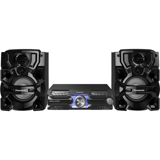 Panasonic SC-AKX710E-K 2000 Watt High Power Mini Hi-Fi System with Bluetooth - Black - SC-AKX710E-K - 1
