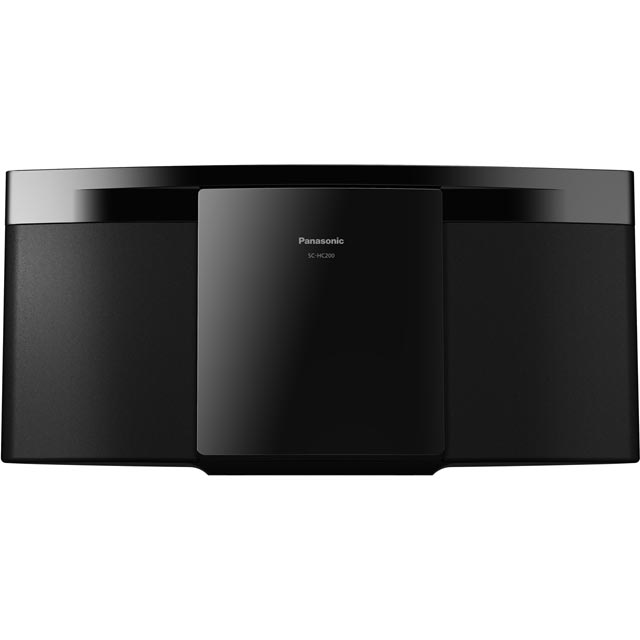 Panasonic Separate SC-HC200EB-K 20 Watt Hi-Fi System with Bluetooth - Black - SC-HC200EB-K - 1