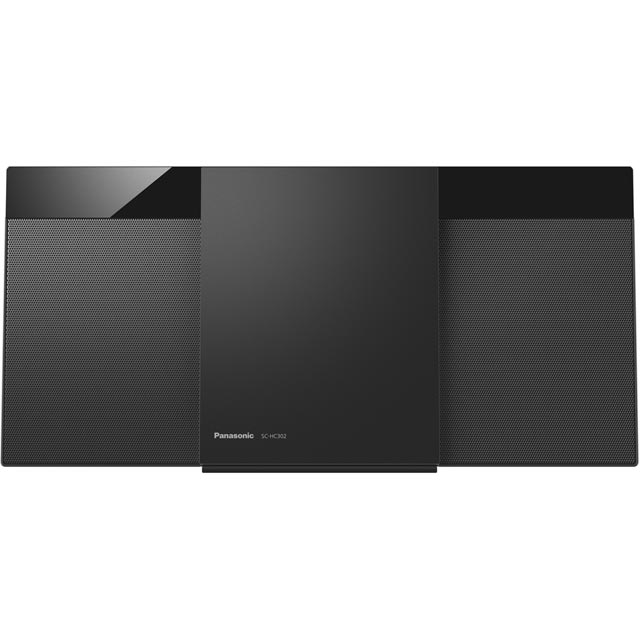 Panasonic Separate SC-HC302EB-K 20 Watt Hi-Fi System with Bluetooth - Black - SC-HC302EB-K - 1