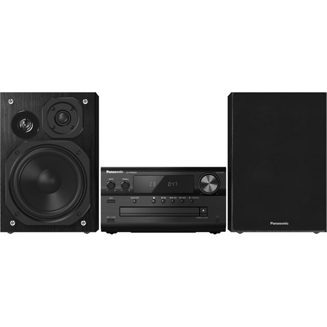 Panasonic SC-PMX92EB-K 120 Watt Hi-Fi System with Bluetooth - Black