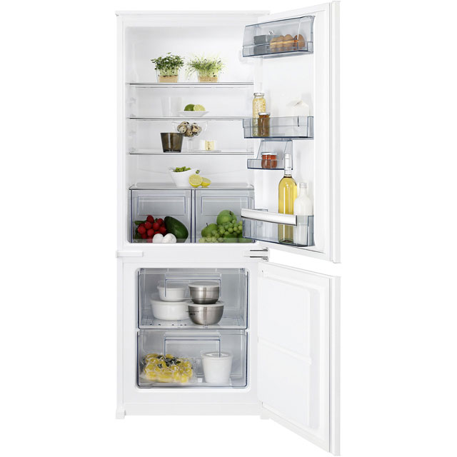 AEG SCB5142VLS Integrated 70/30 Fridge Freezer with Sliding Door Fixing Kit - White - A++ Rated Best Price, Cheapest Prices