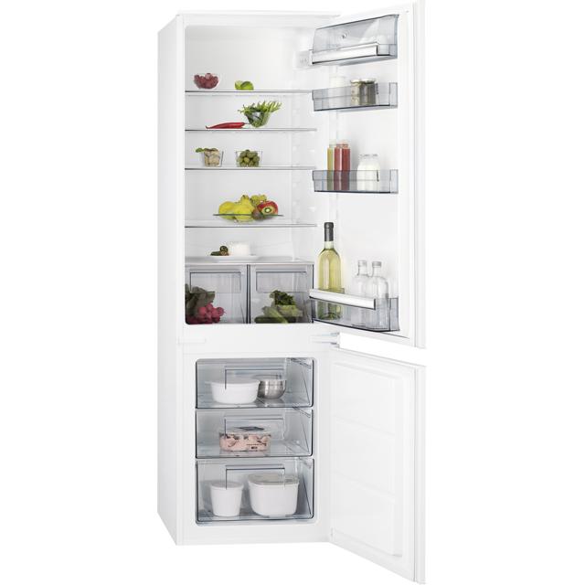AEG SCB6181XLS Integrated 70/30 Fridge Freezer with Sliding Door Fixing Kit - White - A+ Rated