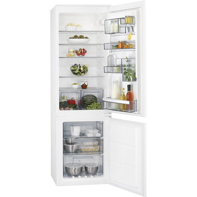 AEG SCB6182VNS Integrated 70/30 Frost Free Fridge Freezer - White - A++ Rated - SCB6182VNS_WH - 1
