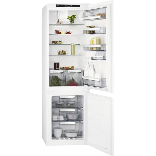 AEG SCE8181VTS Integrated 70/30 Frost Free Fridge Freezer with Sliding Door Fixing Kit - White - A+ Rated - SCE8181VTS_WH - 1