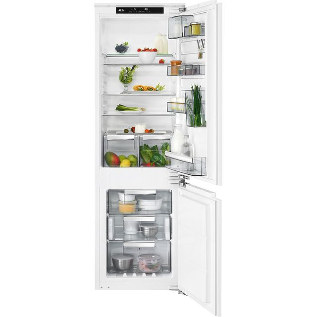 AEG SCE8182VNC Integrated 70/30 Frost Free Fridge Freezer with Fixed Door Fixing Kit - White - A++ Rated