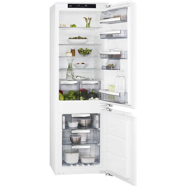 AEG SCE8182XNC Integrated 70/30 Frost Free Fridge Freezer with Fixed Door Fixing Kit - White - A++ Rated