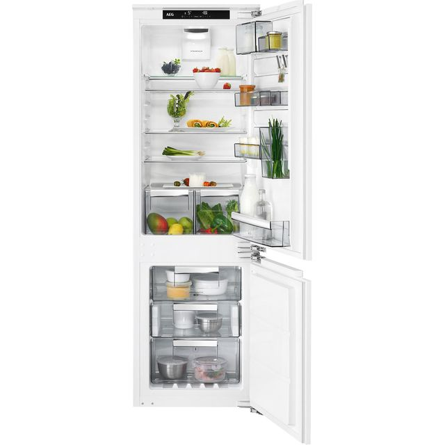 AEG SCE8186VTC Integrated 70/30 Frost Free Fridge Freezer with Fixed Door Fixing Kit - White - A+++ Rated