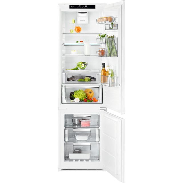 AEG SCE81925TS Integrated 70/30 Frost Free Fridge Freezer - White - A++ Rated - SCE81925TS_WH - 1